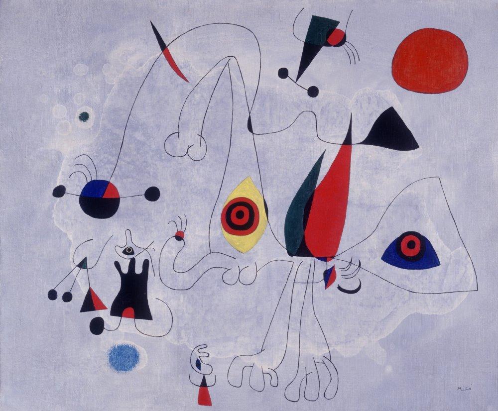 Женщина и птицы на рассвете, 1946